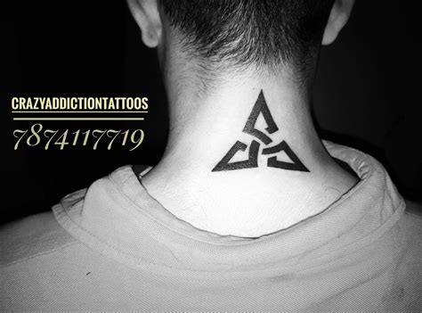 tribal triangle tattoo pin by addiction tattoos on tribal designs