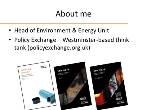 Political Think Tank Mba Route by Routes To Clean Air 2016 Richard Howard Policy Exchange