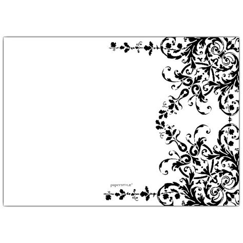 Elegant Garland Black And White Birthday Invitations Paperstyle Black And White Card Templates