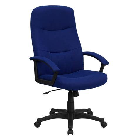 Blue Swivel Chair High Back Navy Blue Fabric Executive Blue Swivel Chair