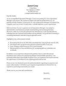 Sample Cover Letter Operations Director Cover Letter Examples