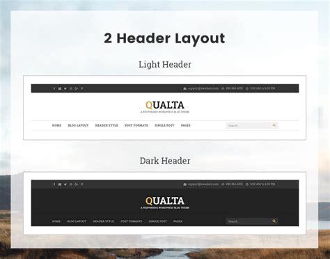 change layout wordpress blog qualta responsive wordpress blog theme by awaiken