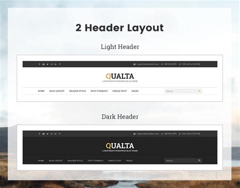 responsive layout header qualta responsive wordpress blog theme theme88 com