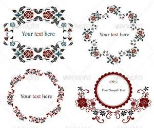Text Flower Symbols - vintage floral frame set graphicriver