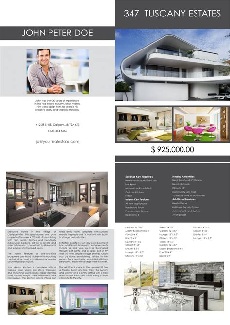 Real Estate Feature Sheet Template by Real Estate Photographer Calgary Feature Sheets