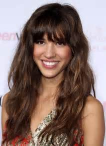 hairstyle with a few bangs 2013 relaxed long curly hairstyle with bangs hairstyles