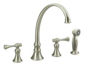Kitchen Sink And Faucet Kohler K 16109 4a Bn Revival Kitchen Sink Faucet Vibrant