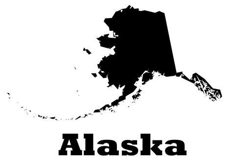 Sticker On The Wall alaska vinyl wall decal map silhouette sticker