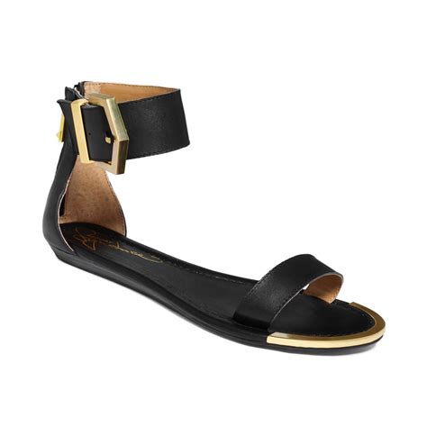 sandals signature report signature louie two flat sandals in black lyst