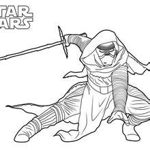 kylo ren and stormtrooper coloring page bb 8 the force awakens coloring pages hellokids com