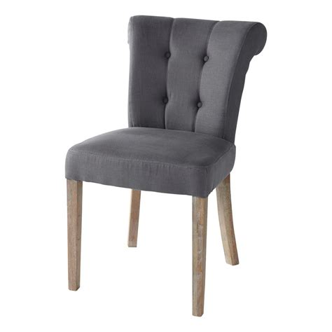 gepolsterter stuhl gepolsterter stuhl aus leinen taupe boudoir boudoir
