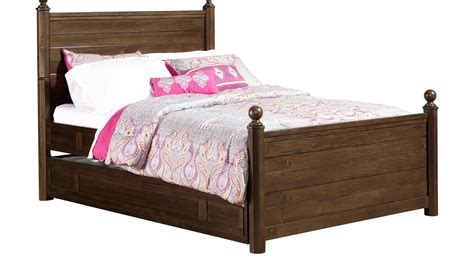 boulder chocolate 4 pc full poster bedroom boys bedroom boulder chocolate brown 4 pc full post bed w trundle