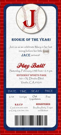 Baby Shower Baseball Ticket Invitations by 1000 Images About Baby Shower On Baseball