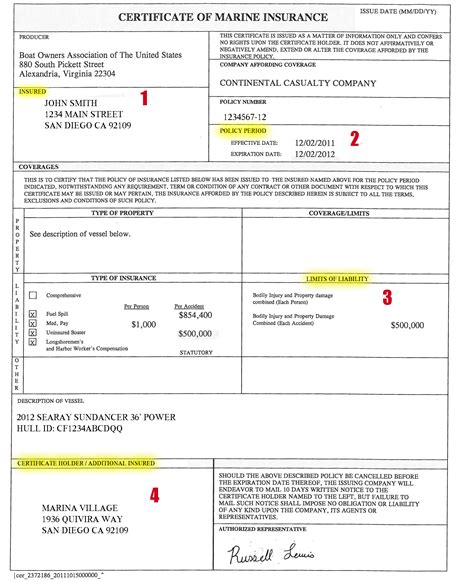 Auto Insurance Declaration Page Sample   2017   2018 Best