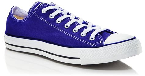 Sepatu Converse Classic Low converse chuck classic low top sneakers in blue for navy lyst
