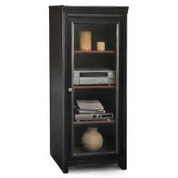 Audio Rack Cabinet Bush Stanford Audio Cabinet Antique Black And Cherry