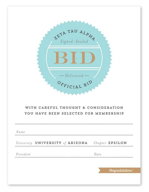 bid day card sorority template maker 17 best images about bid day ideas on