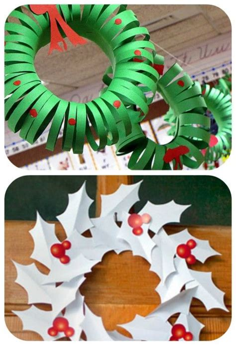 printable paper holly wreath holly wreath construction paper and wreaths on pinterest