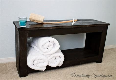 Bathroom Storage Bench Diy Bathroom Storage Bench