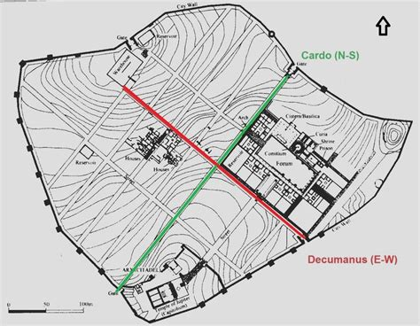 Italy Houses 192 roman town planning cosa city plan of cosa italy