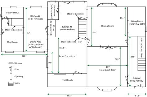 simple house floor plans measurements