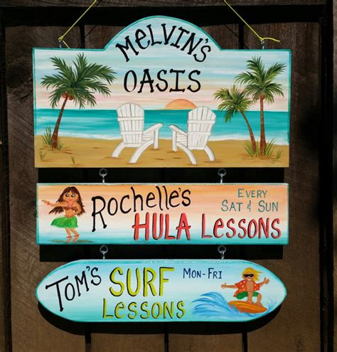 personalized backyard signs custom pool oasis backyard sign yard beach summer sign