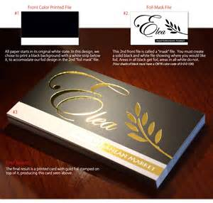 business cards with gold foil gold foil sted business cards foil printing