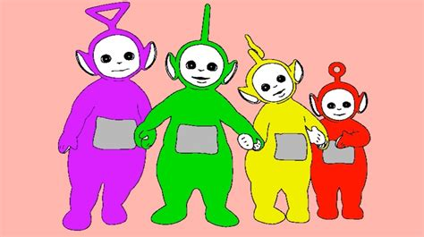 70 po is hiding from the other teletubbies coloring