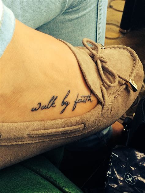 walk by faith tattoo on foot ideas small walk by faith foot shoes tattooes