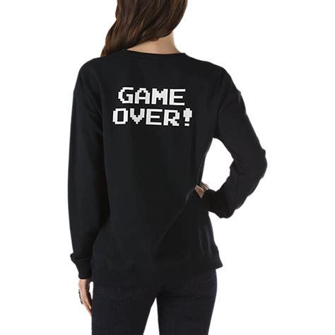 Sweater Vans nintendo mariover crew sweatshirt shop womens