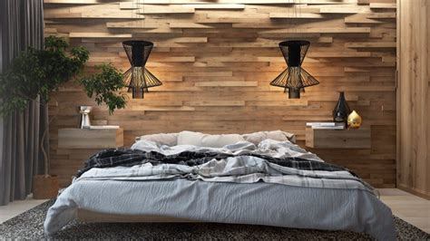 Bedroom Design Ideas Wood Master Bedrooms With Striking Wood Panel Designs Master