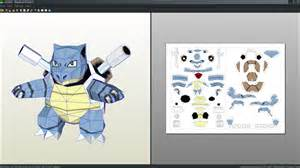 blastoise pokemon papercraft unfold by antyyy on deviantart