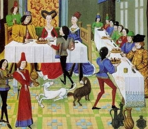 banchetto medievale cibo nel medioevo