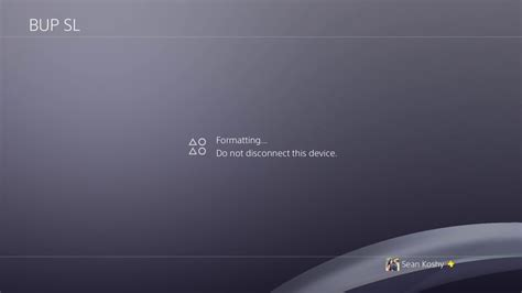 format hard disk for ps4 how to ps4 4 50 update format external hard drive youtube