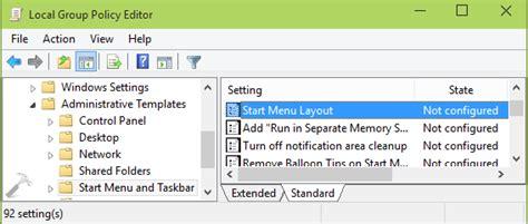 start menu layout windows 10 gpo how to specify fixed layout start menu in windows 10