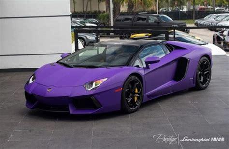 Tyga S Matte Purple Drophead Lamborghini Adventador