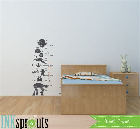 printable star wars growth chart star wars inspired grow chart decal child growth chart the