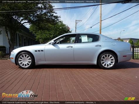 maserati light blue 2005 maserati quattroporte argento luna light blue