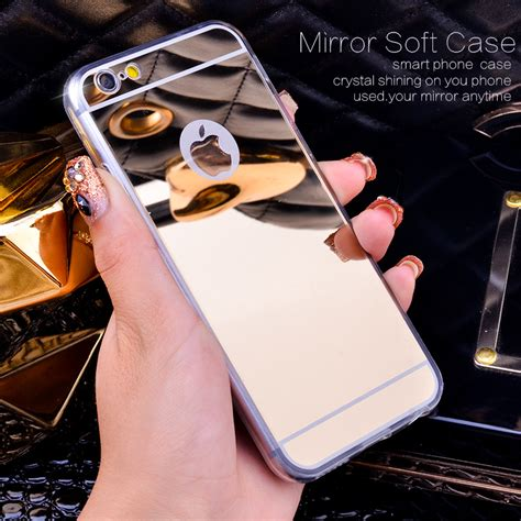 Mirror For Iphone 6 7 gold luxury bling mirror for iphone 5 5s 6 4 7 6