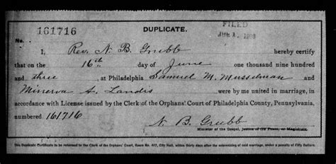 Phila Marriage Records 1677 1950 Civil Weddings In Pa Familytree