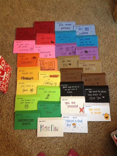 Gift Ideas Letter A Open When Letters For My Distance Boyfriend For Compean Compean Compean