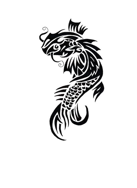 koi fish tribal tattoo koi tattoos designs ideas and meaning tattoos for you