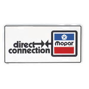Direct Connection Chrysler 1966 74 A B E Direct Connection License Plate