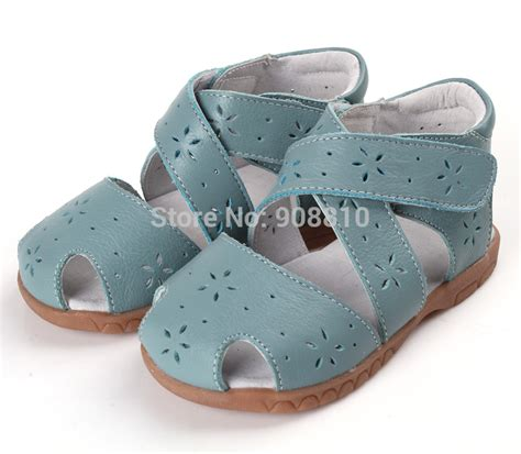 closed toe toddler sandals sandals genuine leather soft toddler shoes blue