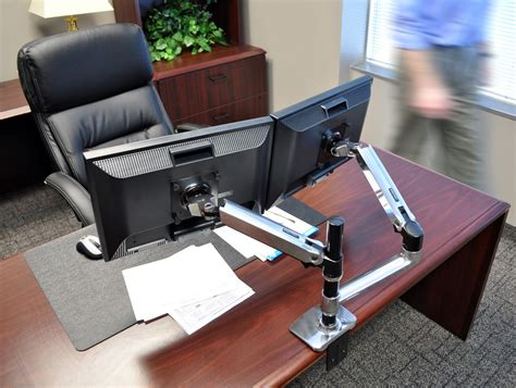 ergotron dual monitor desk mount ergotron lx dual stacked desk mount lcd arm radius office
