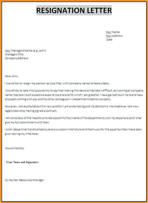 draft resignation letter loginnelkrivercom