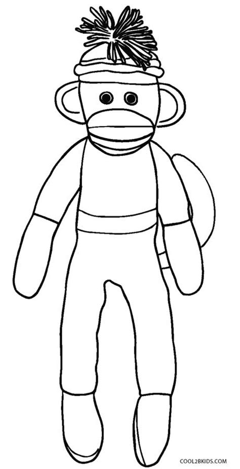 coloring pages of sock monkey free printable monkey coloring pages for kids cool2bkids