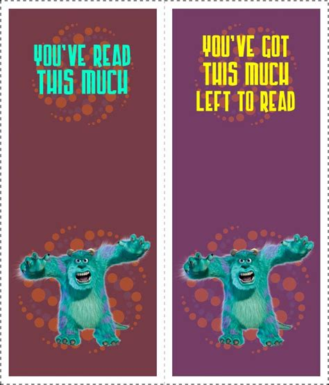 printable monster bookmarks 5 best images of printable monster bookmarks free