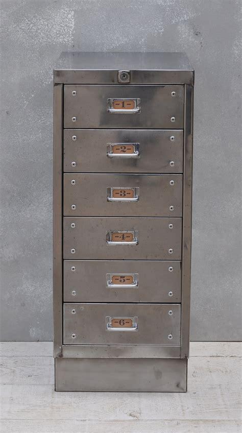 vintage industrial steel filing cabinet  drawer home