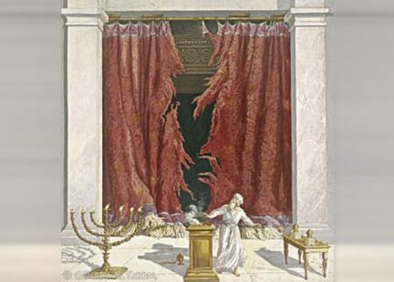 temple curtain torn in two crucifixion the bible says that